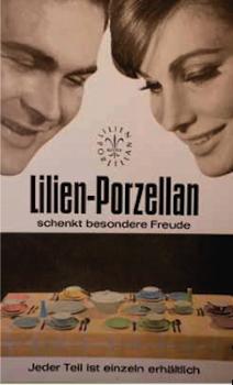 Lilien-Porzellan Werbeplakat 1960